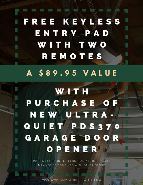 Free Keyless Entry with New Garage Door Opener